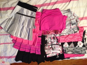 My skirt collection, a lot of pink!
