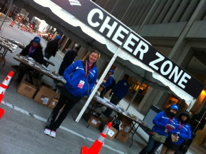 Cheer station at the Chicago Marathon 2012, I was just before mile 13