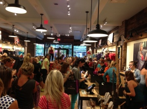 Packed store, hard to shop but still fun!