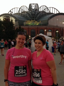 Tricia and I before the race