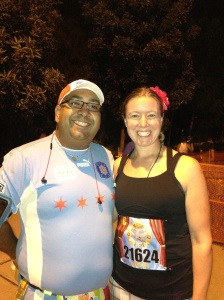 Frank and I getting ready to RUN!!!