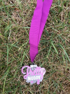 each participant earned this medal, way better than a t-shirt I think!