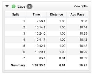 Slow and steady 6 mile run, leg felt great!