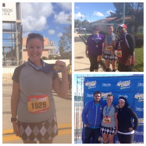 Post race with Fank and Liz, pic with Biggest Loser contestants Jeff and Francelina from season 14