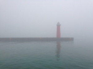 Hard to tell Lake Michigan is really out there.