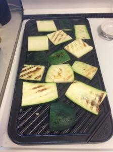 Getting the zucchini ready