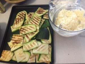 All grilled and ready to go into the lasagna.