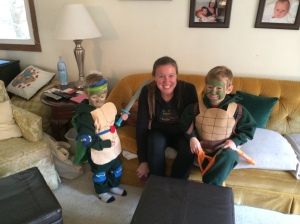 Two very cute Teenage Mutant Ninja Turtles