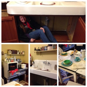 I had to hide under the sink!