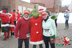 post race pic with the Grinch