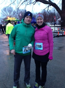 Chris and I before the race